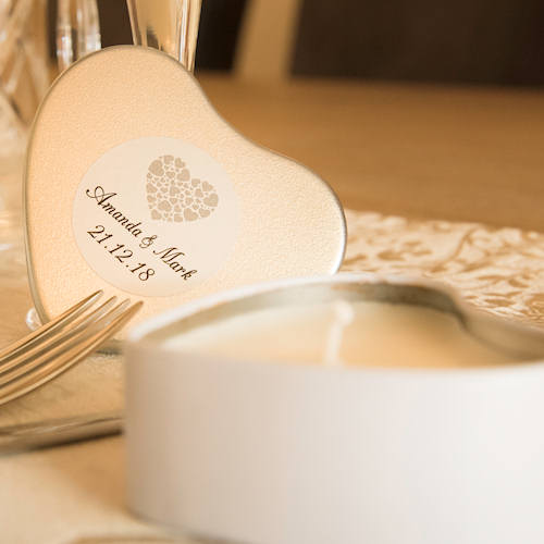 printed tins candles wedding gifts favours